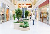 picture of shopping center  - Modern Shopping hall in trade center - JPG