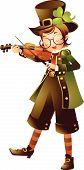 Постер, плакат: Мальчик играет скрипка