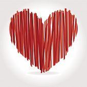 pic of san valentine  - heart Vector Illustration icons symbols Valentine day - JPG