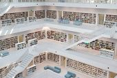 STUTTGART, GERMANY - AUG 18: The Stuttgart City Library on August 18, 2012 in Stuttgart, Germany.  T