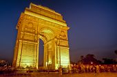 stock photo of india gate  - india gate at night - JPG