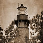 picture of whalehead club  - Artistic shot of the Currituck Beach Lighthouse in Corolla - JPG