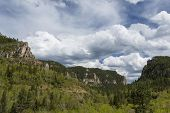 stock photo of spearfishing  - A scenic view of a portion of Spearfish Canyon in South Dakota - JPG