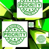 pic of dispatch  - Priority On Cubes Shows Urgent Dispatch Or Deadline - JPG