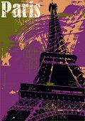 Постер, плакат: Париж Эйфелева башня