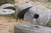 picture of olden days  - Millstones at Stanage Edge - JPG