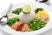 khao yam, rice salad, thai cuisine