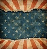picture of ripped  - Grunge ripped paper USA flag pattern - JPG