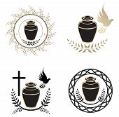 picture of urn funeral  - Illustration of Urns Design Collection Over White Background - JPG