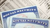 stock photo of social-security  - Social Security and retirement income concept of financial planning and its future - JPG