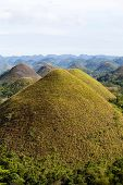 image of chocolate hills  - Chocolate Hills in Bohol Island Philippines closeup - JPG