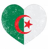 picture of algiers  - Algerian vintage flag - JPG