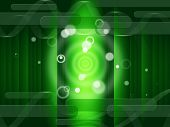 stock photo of oblong  - Green Circles Background Meaning Bright And Oblongs - JPG