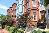 stock photo of tenement  - Washington DC capital city of the United States - JPG