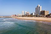 picture of beachfront  - beautiful beachfront of Durban - JPG