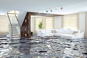 picture of flood  - flooding in luxurious interior - JPG