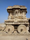 pic of charioteer  - Stone chariot at Vittala temple  - JPG