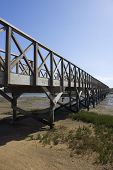 picture of lagos  - Footbridge leading to Praia Formosa Quinta do Lago Algarve Portugal - JPG