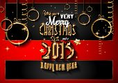 foto of christmas party  - 2015 New Year and Happy Christmas background for your flyers - JPG