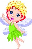 picture of fairy tail  - illustration of Cute little fairy cartoon isolated on white - JPG