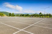 picture of tree lined street  - Vacant Parking Lot  - JPG