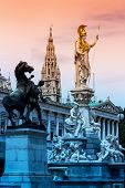 picture of goddess  - parliament in vienna - JPG