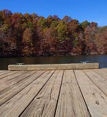 picture of dock a lake  - Place to tie off your boat on a dock on Badin Lake North Carolina - JPG