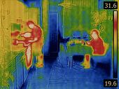 picture of thermal  - Body Heat Distribution Thermal Image - JPG