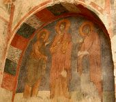 ������, ������: Fresco Of Saint Nicholas Church turkey