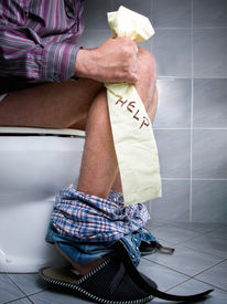 picture of laxatives  - Conceptual view of digestive problems like constipation or diarrhea - JPG