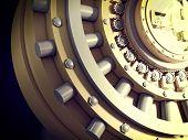 image of vault  - 3d image of classic vault door - JPG