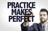 stock photo of  practices  - Business man pointing the text - JPG