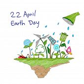 pic of save earth  - illustration of Earth Day concept for a healthy future - JPG