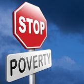 stock photo of poverty  - stop poverty give and donate to charity giving a helping hand - JPG