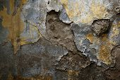 image of concrete pouring  - photographed in daylight poured paint old wall texture background image - JPG