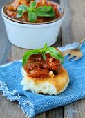 pic of stew  - vegetable stew of eggplant and tomatoes - JPG