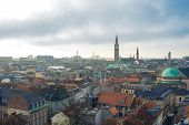 pic of city hall  - Cloudy Copenhagen view to city hall - JPG
