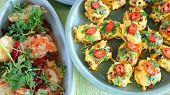 stock photo of thai cuisine  - Top view of Thai cuisine dishes famous international tasty food - JPG
