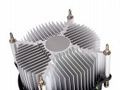 stock photo of cpu  - Close-up shot of computer CPU cooler isolated on a white background ** Note: Shallow depth of field - JPG
