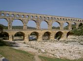 image of aqueduct  - The Pont du Gard - JPG