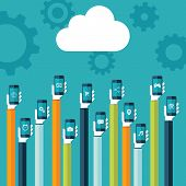 stock photo of clouds  - Cloud computing - JPG