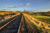 stock photo of south-western  - in late April afternoon at South Western Railway - JPG
