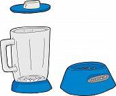 pic of blender  - Illustration of blue blender jar parts over white background - JPG