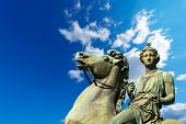 stock photo of turin  - Equestrian statue of Pollux in the Royal Palace  - JPG
