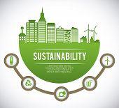 stock photo of sustainable development  - eco sustainibility design - JPG