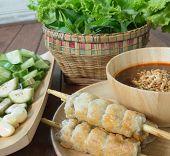 picture of sate  - Vietnamese Pork Sausage - JPG