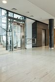 pic of elevators  - Interior of modern business building having elevator - JPG