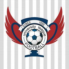 picture of logo  - Vector university league logo template - JPG