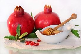 pic of traditional  - symbols of holiday of Rosh Hashanah - JPG