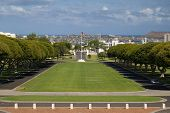 stock photo of punchbowl  - National memorial cemetery of the Pacific in Honolulu - JPG